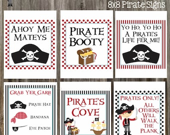 Instant download pirate signs printable