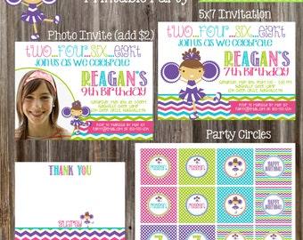 CHEERLEADER Birthday Party Package - Girl DIY Printable
