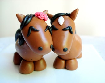 Horse Wedding Cake Topper Polymer Clay