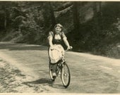 "Vintage Photo ""She Loved To Ride"", Photography, Paper Ephemera, Antique, Snapshot, Old Photo, Collectibles - 0111"