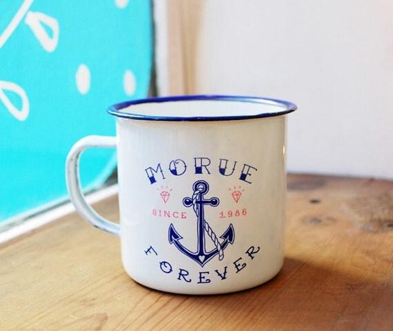mug mail morue forever par lolitapicco sur etsy. Black Bedroom Furniture Sets. Home Design Ideas