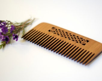 Wooden Comb - Celtic