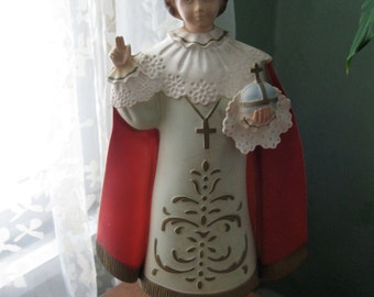 Vintage Infant of Prague Statue