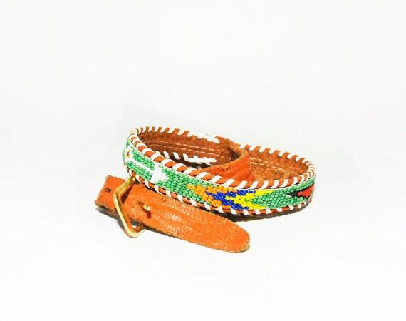 vintage navajo american beaded belt by