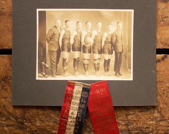 Vintage High School Basketball Team Photo from 1920  - Great Guy Gift!