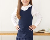 School Elementary Uniform French Toast - Girl's Twill Pleated Hem Jumper    2 Colors to Choose From