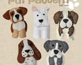 Cute plush Dogs sewing pattern set Two