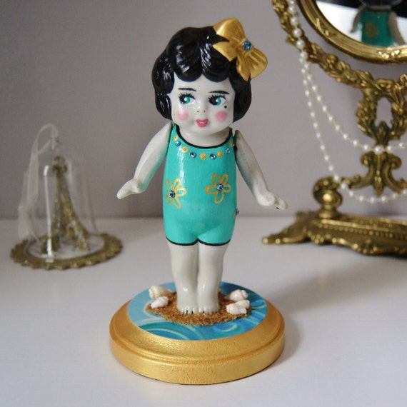 Darla the Bathing Beauty, Antique and Upcycled