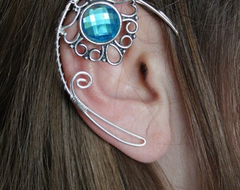 Elven ear cuff - elvish earring - elven ear - elf ear - BLUE
