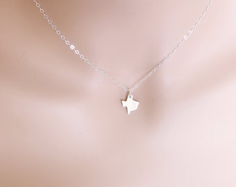 Texas Necklace Sterling Silver State of Texas Birthdays Friends