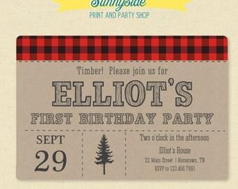 Lumberjack birthday | Etsy