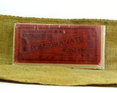 Vintage 1950's Wonderful Pomegranate Packing Label Red Sign Advertisement Porterville California Kitchen Fruit Food Cooking