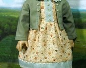1930s Autumn Dress, Jacket and Hat  for 18 inch Girls