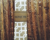 Skinny Tie || Sand Dune