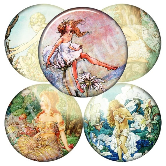 Digital Collage of Illustrations from the legends - 20 2x2 Inch JPG  images - Digital Collage Sheet