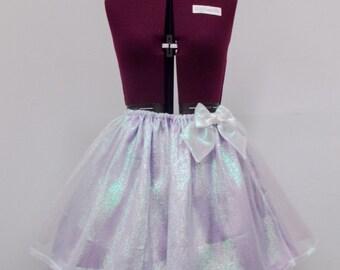 Sheer Shimmer Fairy Kei Lolita Elastic Waist Skirt Choose Your Color