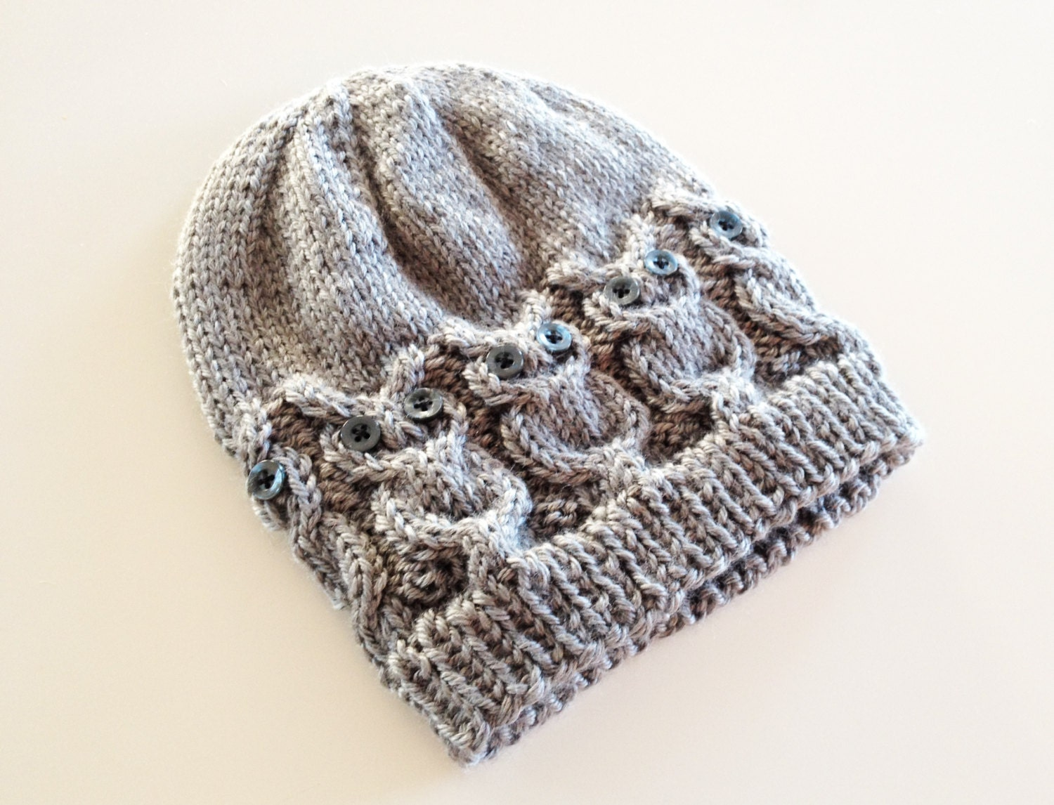 Knitting Pattern For Owl : Owl Knit Hat