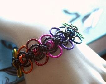 Rainbow Celtic Wings Bracelet