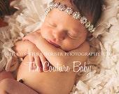 Rhinestone Aurora Borealis Halo Headband Crystal Rhinestone Photography Prop Fits Preemie Infant Toddler Big Girl Teen Adult Headband