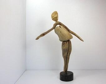FREE SHİPPİNG,driftwood sculpture,recycling art,wood sculpture,found object art,modern art sculpture,original shape