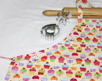 Gourmet Yellow Cupcakes Adult Apron