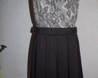 Cute Black and Grey Size 6 Dress