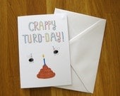 poo greetings card, silly, funny, humorous birthday card