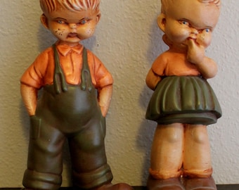 Vintage Boy and Girl Figurines