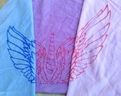 Angel Wings Bandana - Screen Printed - Pegasus Bird Feathers - Rainbow Dash Fluttershy Twilight Sparkle - My Little Pony
