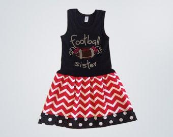 Girls Chevron Dress Girls Dresses Football Outfits Football Clothing Girls Football Dress Girls Kids Baby Toddlers12 18 24 Mo Girls 2 3 4 5