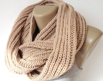 ON SALE // Chunky Knitted Scarf Winter Scarf Women Knit Infinity Scarf Scarves Men Scarf Women Fashion Accessories Gifts senoaccessory