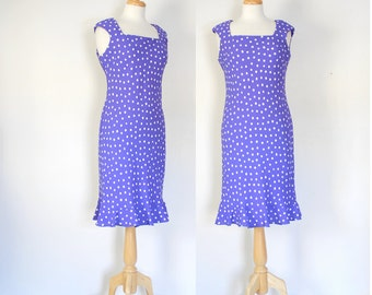 90s Purple Sleeveless Sheath Dress