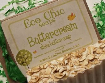 Buttercream Oatmeal Soap - Shea Butter Soap - Vegan