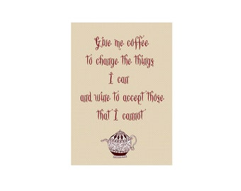 Inspirational Coffee Digital Art Print, Coffee Quote Printable Art, Printable Coffee Quote