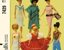 Instant Download McCall's 7429 Barbie Doll Wardrobe Vintage Sewing Pattern ePattern PDF