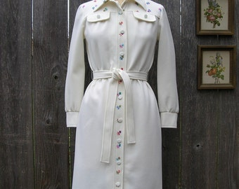 Vintage 70's POSIES AND CREAM Knit Dress