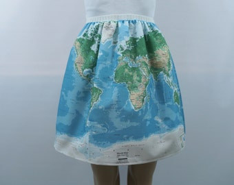 World map skirt - made to order