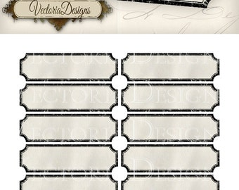 Retro Blank Labels - printable / add your own text - VD0731