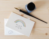 Simple Love Card - Anniversary Card - Rainbow of My Life