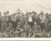 Antique 1914 - 1918 Real Photo Postcard RPPC World War 1 Military Camp (Army) WWI