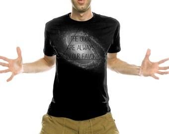 Men Tshirt -  Triangle Spiral Galaxy Tee - Black