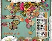 Papier Romantique by Papier Creatif - Shabby Chic Romantic Digital Scrapbook Kit
