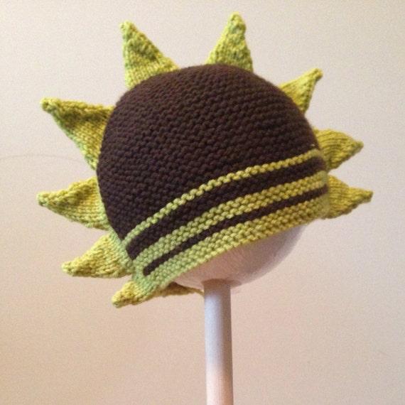 Hand-knitted Toddler Dinosaur Spike Hat