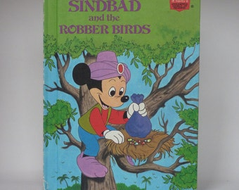Mickey Mouse Sinbad and the Robber Birds Notebook - Handmade Disney Notebook
