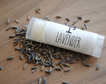 Lavender 100% Natural Lip Balm, Essential Oils, Natural Herbal Gift