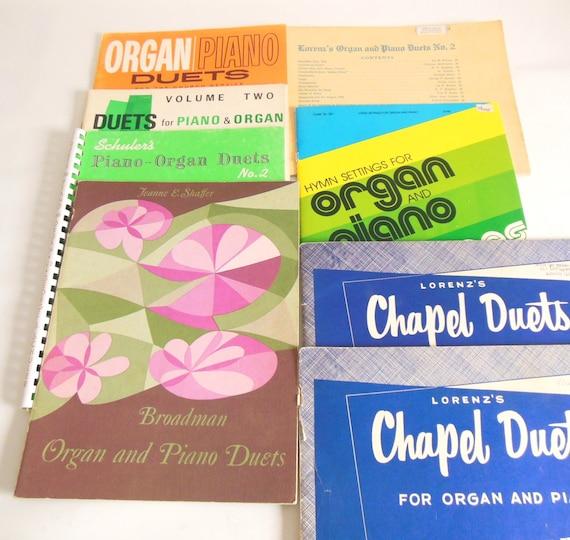 Keyboard Duets Organ Piano Sheet Music Lot - Vintage