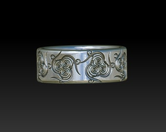 wedding ring celtic ring   celtic band    celtic    wedding band YB111