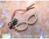 SAILOR MOON White Mask Inspired Acrylic Phone Strap or Dust Plug Cover for Mahou Kei & Magical Girl Fashion