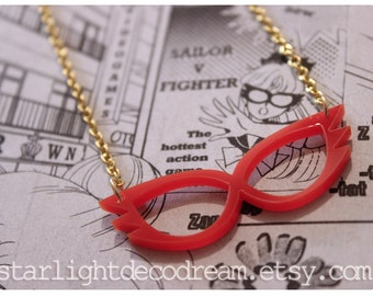 SAILOR V Mask Sailor Moon Inspired Acrylic Necklace for Mahou Kei & Magical Girl Fashion