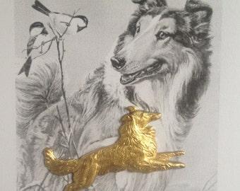Collie Lassie Dog  (2 pc)